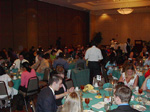 Dinner in the banquet hall.