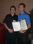 Kurt Van Horn receiving The American Institute of Chemists Award.  Presented by Dr. Roman Manetsch.