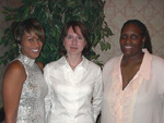 Event coordinators (left to right); Nina Jackson-Goode, Juliet Hill, and Cheryl Graham