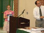 Nicole Sherrill recieving the General Chemistry Award.