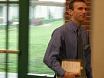Daniel Eckstein recieving the General Chemistry Award.