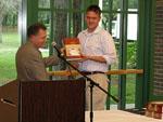 Igor Rafalovich receiving the Biochemistry Award. Presented by Dr. Robert Potter.