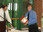 Fredrick Stull receiving the Organic Chemistry Award.  Presented by Dr. Edward Turos.
