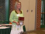 Jamie Frazier receiving the Organic Chemistry Award.