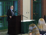 Introduction of Outstanding Alumni Award. Dr. Dean Martin speaking.