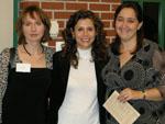 Chemistry Dept. advisors (left to right): Juliet Hill, Clara Ohannes, and Christina Nelson.