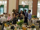 Award recipients mingling during the banquet.