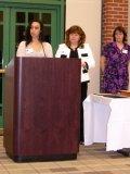 Dr. Vicky Lykourinou presents the General Chemistry Award.
