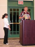 Minphuong Tran receives the Physical Chemistry Award.  Presented by Dr. Randy Larsen.