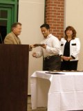 Misbahuddin Syed receives the Outstanding B.A. Chemistry Major award.  Presented by Dr. Robert Potter.