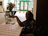 Event coordinator Cheryl Graham.