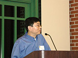 Dr. Peter Zhang announces the Organic Chemistry Award.