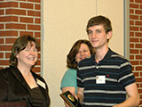 Dr. Jennifer Lewis presents the Maybury Department Scholarship Award to Charles Myers.