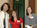 Dr. Li-June Ming presents the Richard Bowman Scholarship Award to Crytal Tenn and Karin Thatcher.