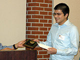 Mario Martinez receives the Wenzinger Scholarship Award.